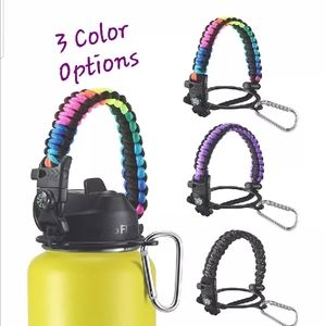Paracord Handle Wide Mouth Water Bottle Accessorie